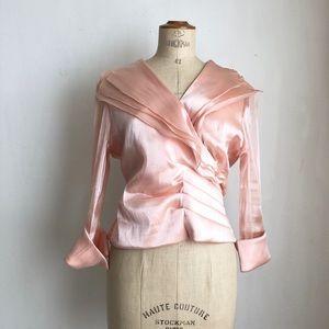 coldwater creek blush wrap blouse sz:12 Wedding